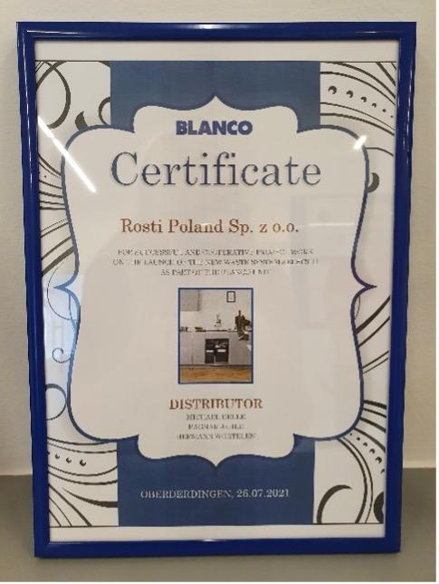BLANCO Award Rosti Poland